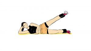 Ilustração exercício de glúteos abdução