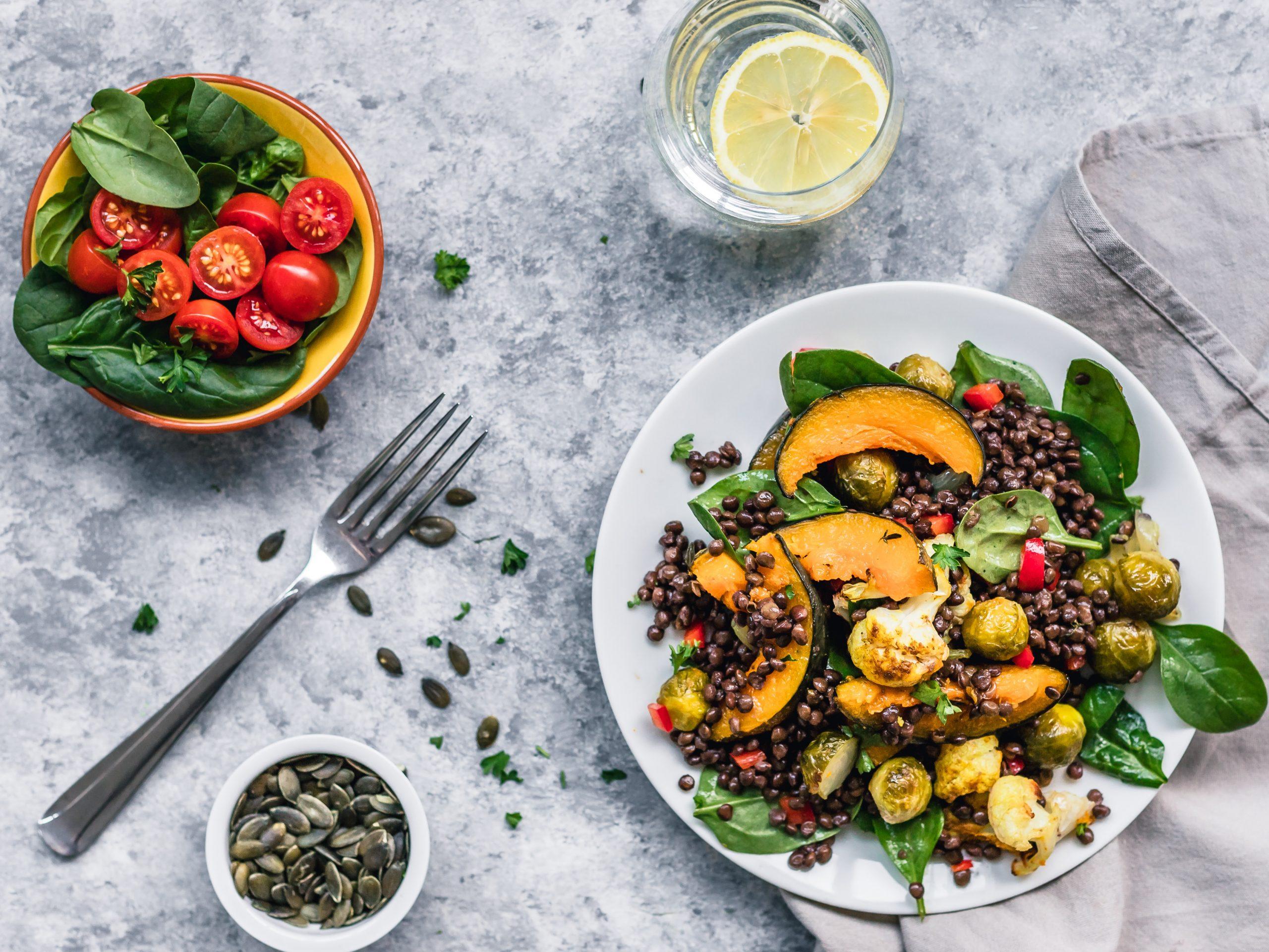 Receita: salada de abóbora e lentilhas