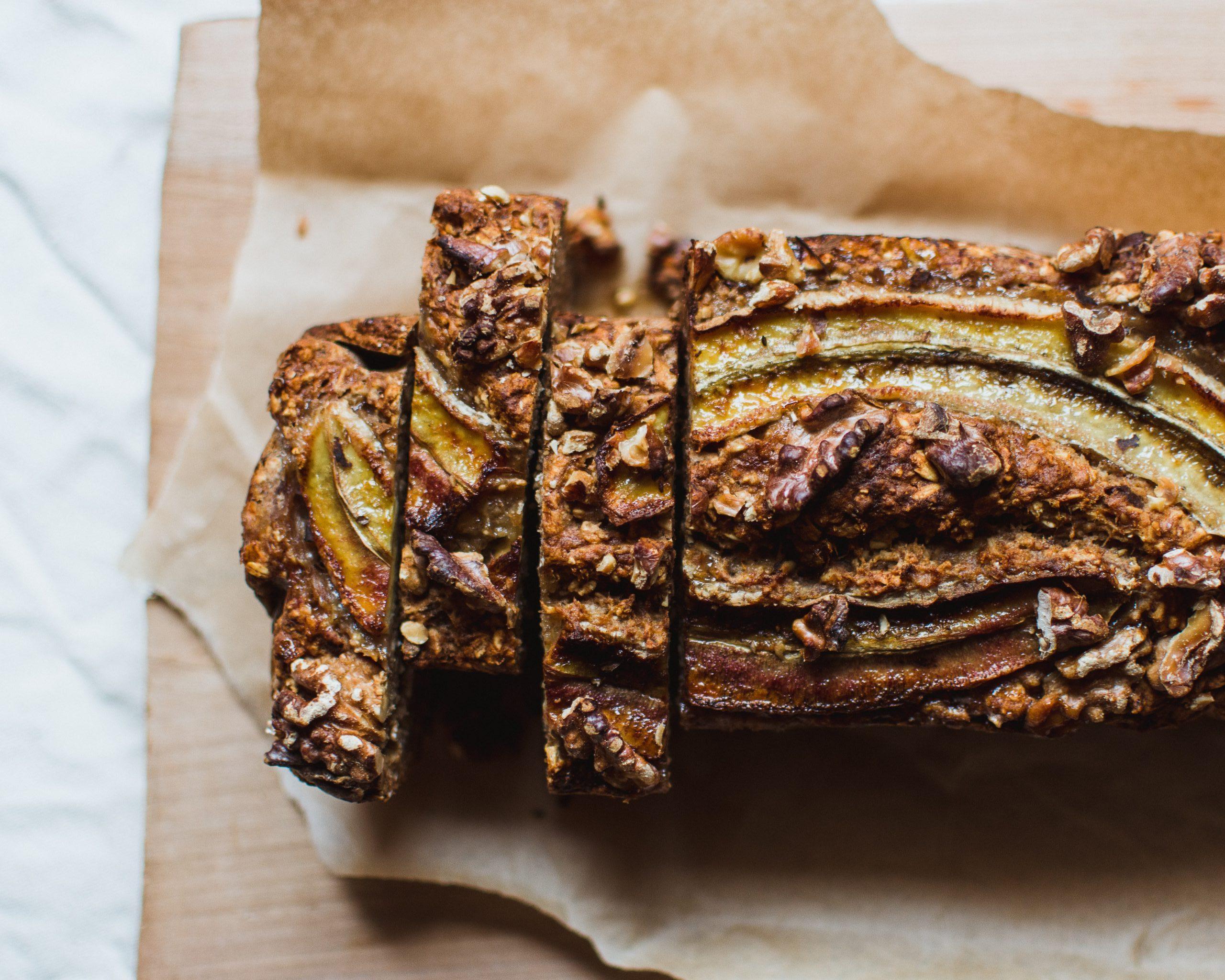 Pão caseiro de banana