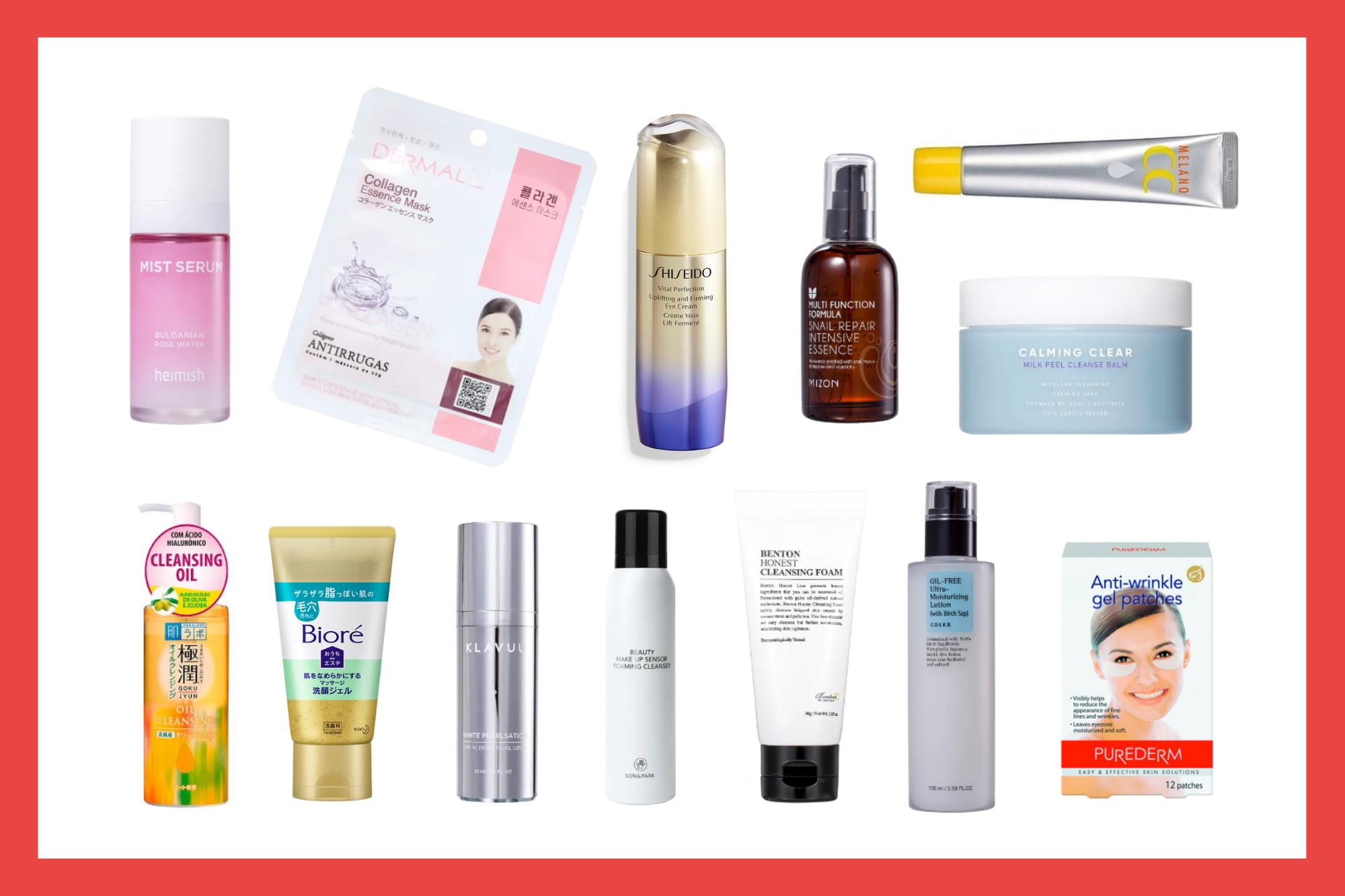 Os 13 melhores produtos de beleza coreanos e japoneses